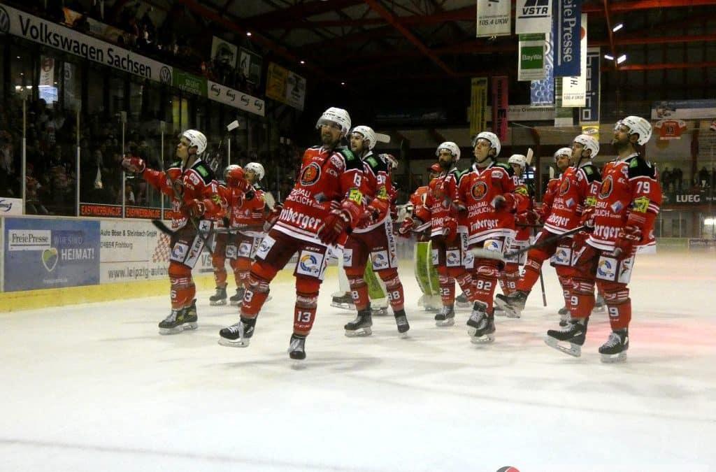 Eispiraten Crimmitschau vs. Kassel Huskies am 17.10.2021